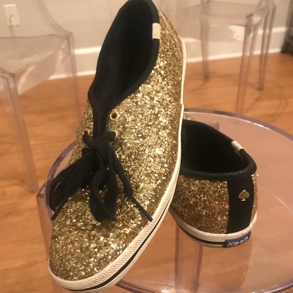 kate spade Shoes - Kate spade for keds glitter gold wedding sneakers 66176549cc34
